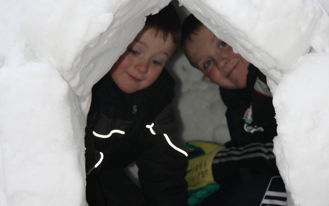 We even make igloos!